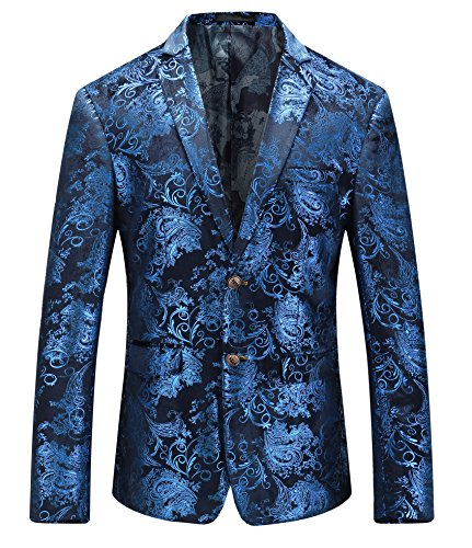 MOGU Royal Blue Blazer Men