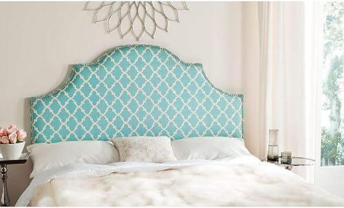 Safavieh Mercer Collection Hallmar Blue White Striped Arched Headboard