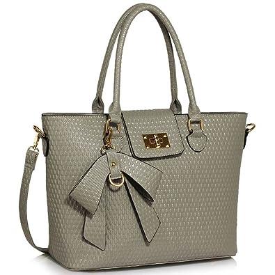 8844caf53ef LEESUN LONDON Designer Handbags For Women Ladies Tote Bags Large Faux  Leather Bags Shoulder Bags