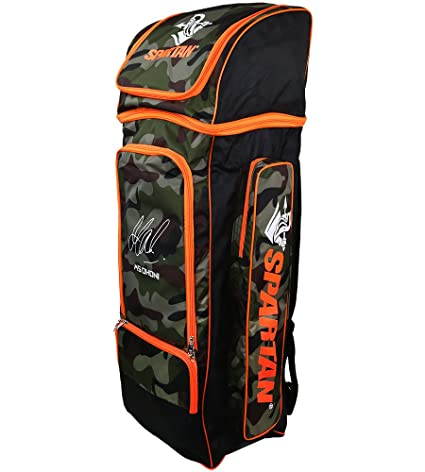9ab972a8224 Buy Spartan Ms Dhoni Cricket Kit Camouflage Large Backpack- Orange Print  Online at Low Prices in India - Amazon.in