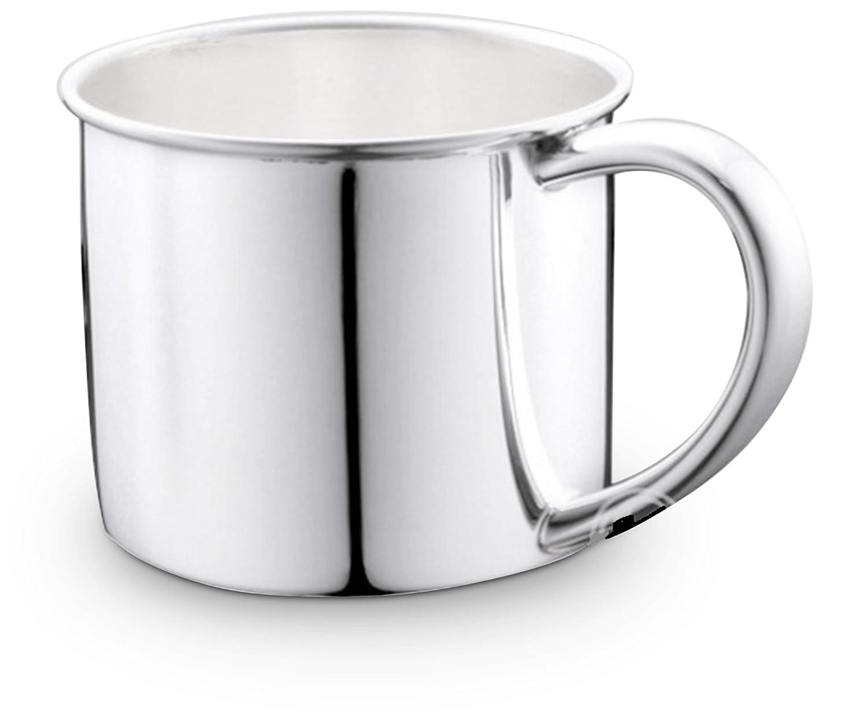 Cunill de plata en taza de bebé llano de la placa de plata, de gran tamaño: Amazon.es: Hogar