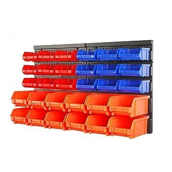 HORUSDY 30Pc Tool Storage Bins Garage Parts Organizer Wall Mounted Plastic  Board Workshop Shed Box Trays