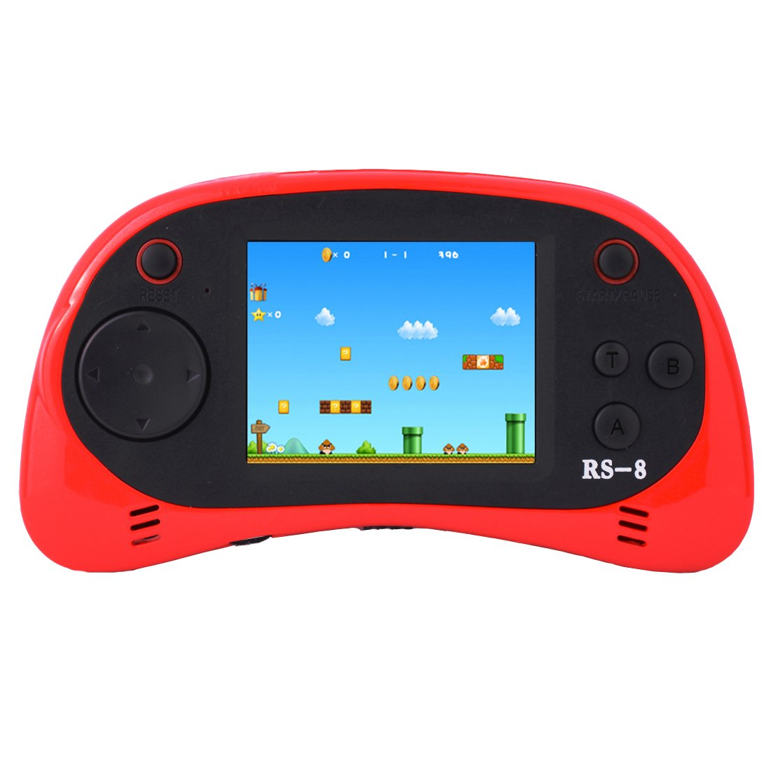 Retro Handheld Game Console & TV Game Controller Built-in 260 Classic Old Style Video Games with 2.5'' Color LCD Screen Portable Arcade Gaming System Birthday Gift for Children (Red)
