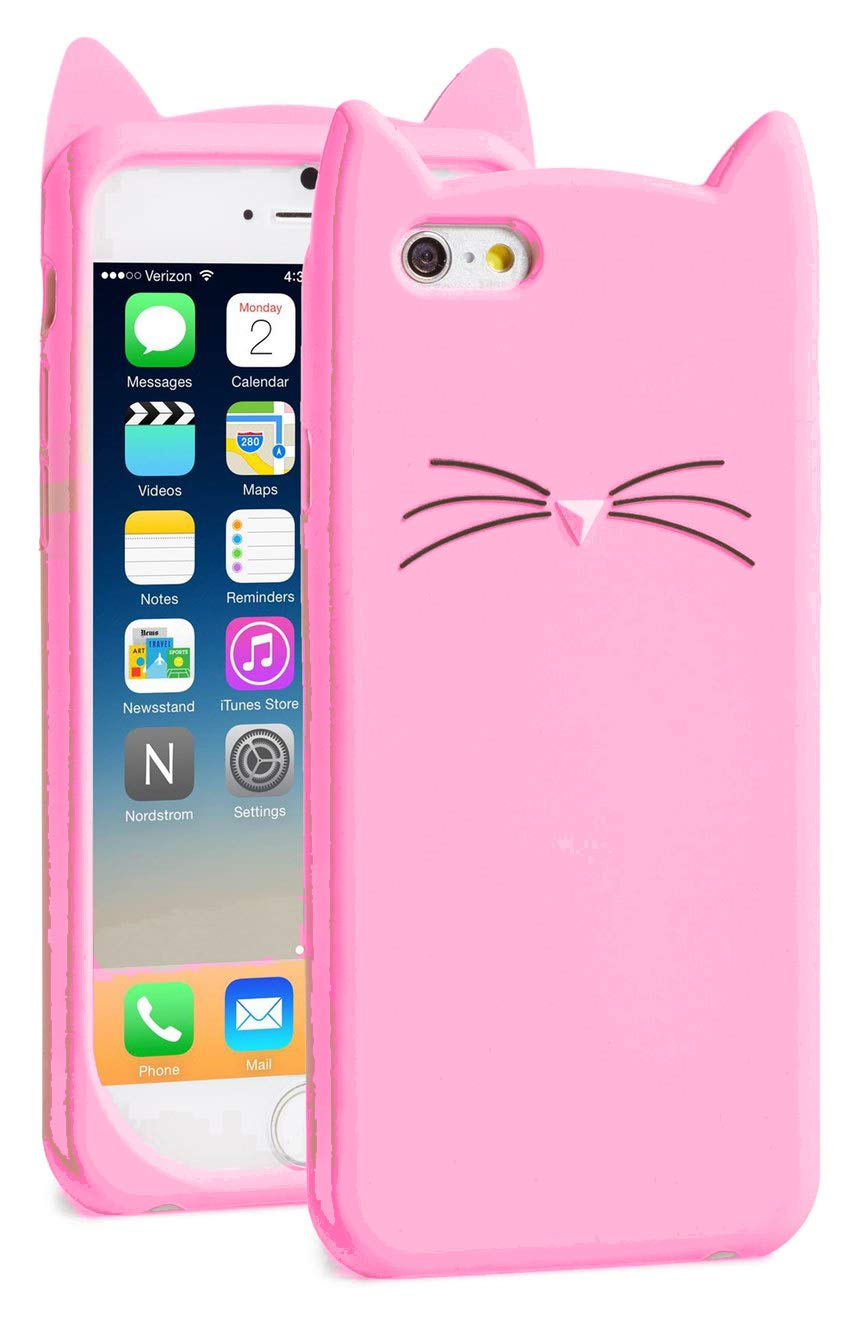 Pink Cat Silicone Case Cover for IPhone 6 and 6s