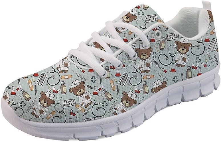 Showudesigns Zapatillas de Mujer para Enfermera Ligeras para Correr Caminar Malla Planas para Tenis para Mujer Deportes Apartamentos EU35-EU42: Amazon.es: Zapatos y complementos