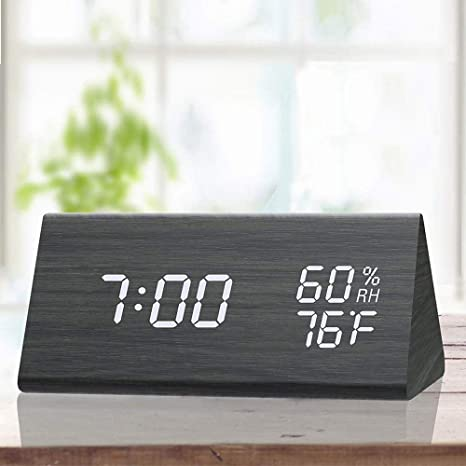 Amazon Com Greenke 3d Led Digital Wall Clock Large Display Modern Cool Digital Alarm Clocks Usb Powered Adjustable Brightness Easy To Read At Night Loud Alarm And Snooze Big Digit Display Blue Light