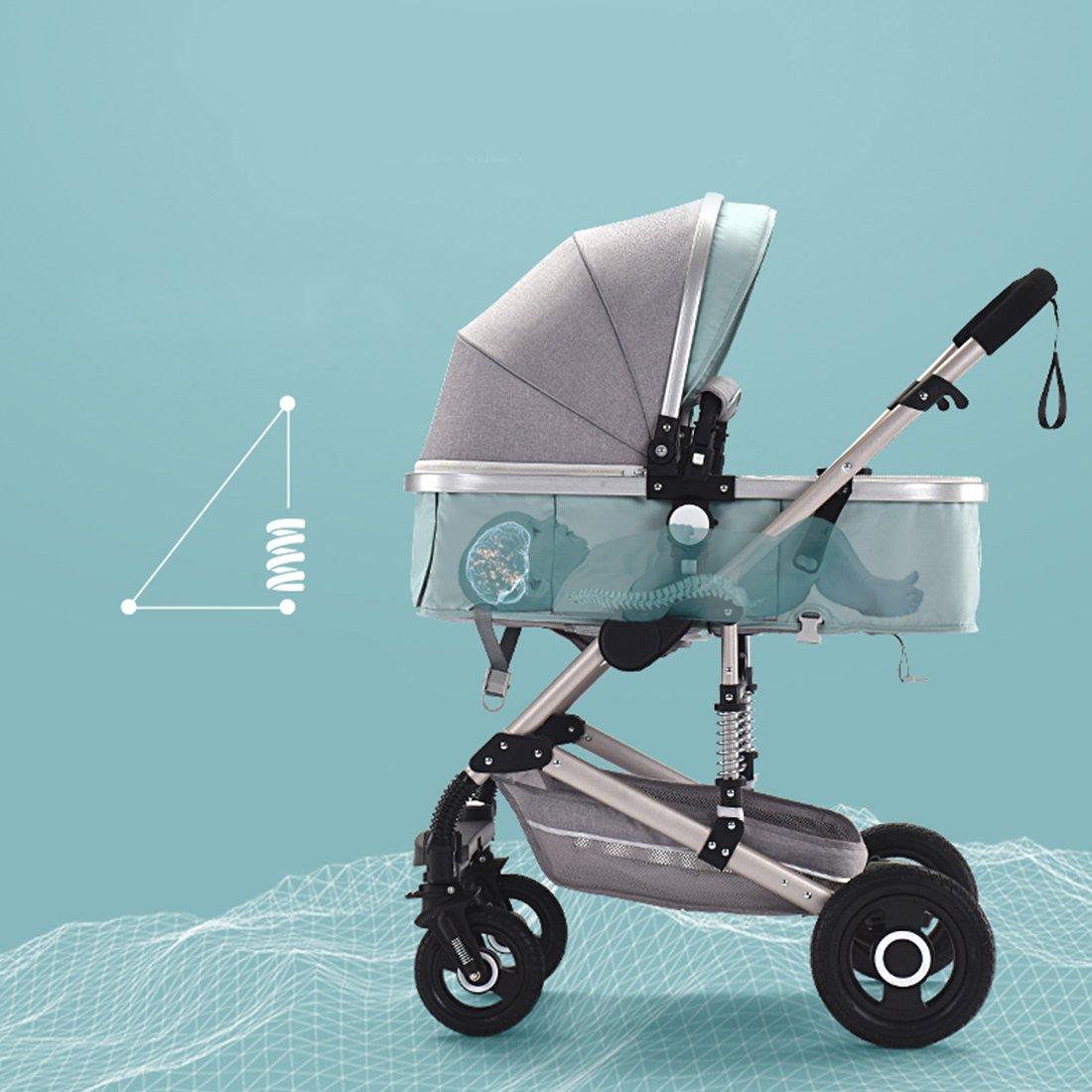 Amazon.com: 3 en 1 bebé recién nacido ligero carriola ...