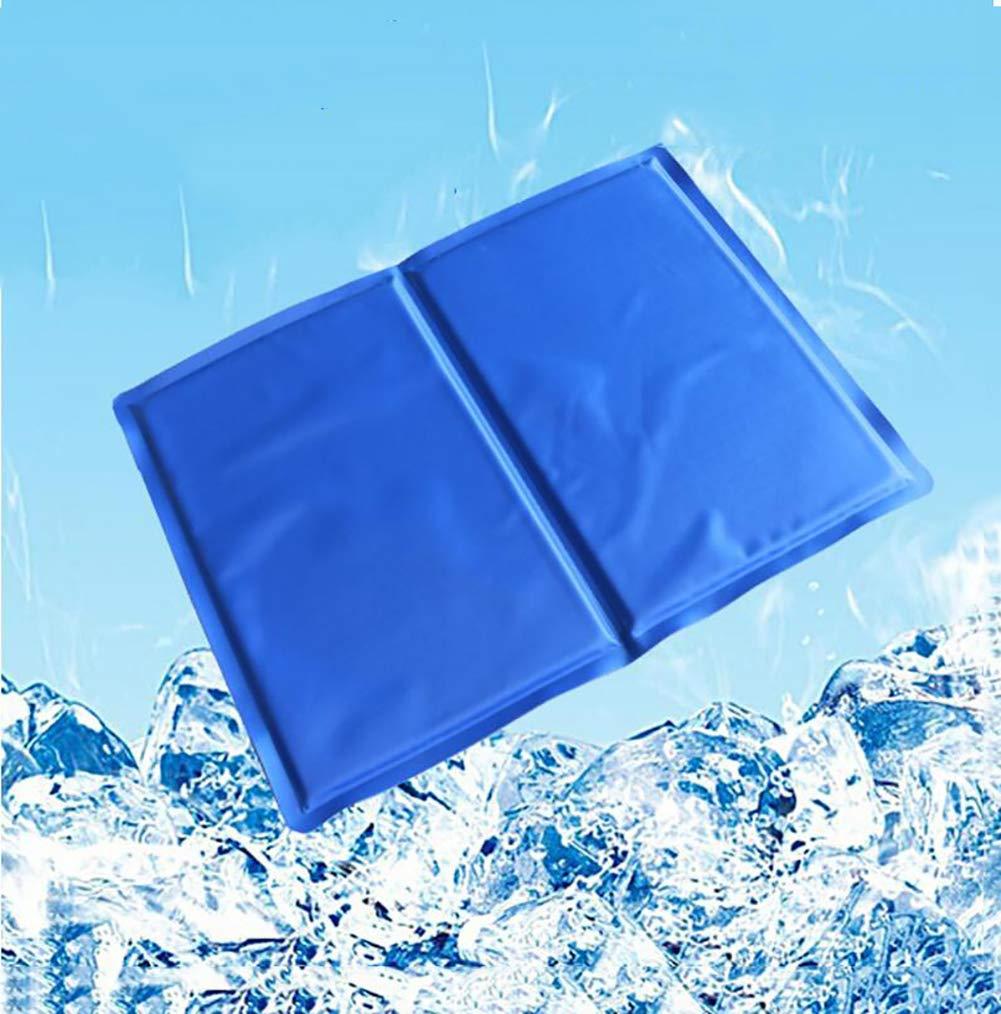 M JYY Pet Ice Pad,Gel Cool Pad Multifunctional bluee Ice Sponge Pad,Summer Pet Cool Essential,M