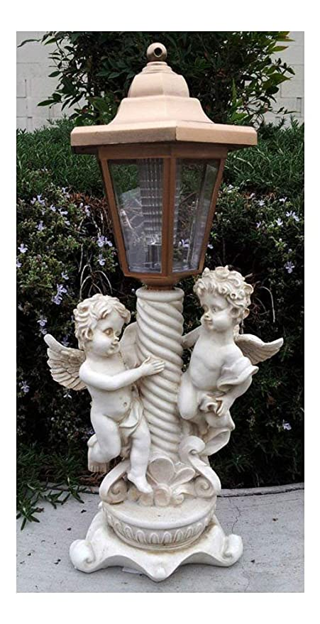 Statues Lawn Ornaments 2 Outdoor Garden Decor Solar Fairy Angel Cherub Statue Sculpture Led Lights Home Garden Home Garden Yard Garden Outdoor Living