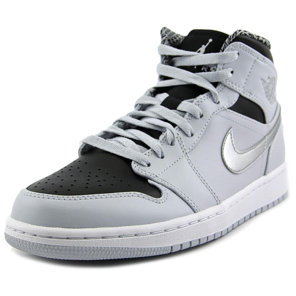buy online 34e15 bbf77 Galleon - Nike Mens Air Jordan 1 Retro Mid Basketball Shoe Pure Platinum  White-Metallic Silver 10.5