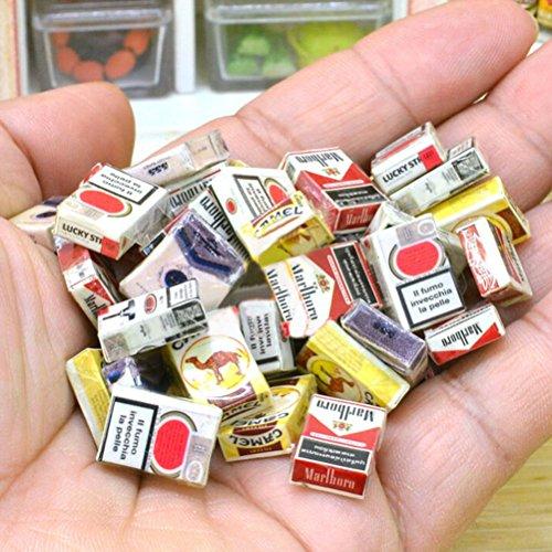 Miniature Mini Cigarette Bar Dollhouse Room Home Store Bonsai Decoration 5pcs