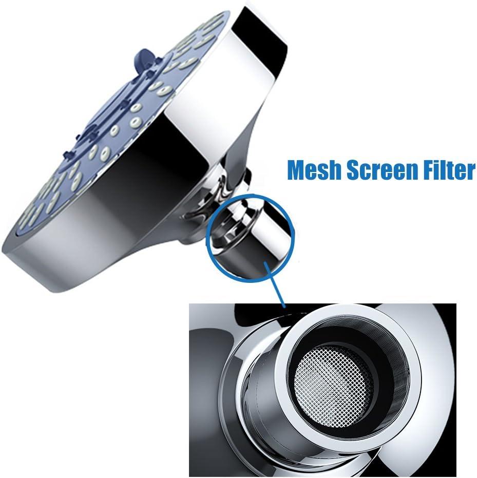 WinArrow Duschkopf Handbrause Ionenfilter mit Vitamin C Mehrschicht Filtration Duschkopf Hochdruck und 80mm Mikropor/öser Platte Wassersparend Duschbrause Kalkfilter