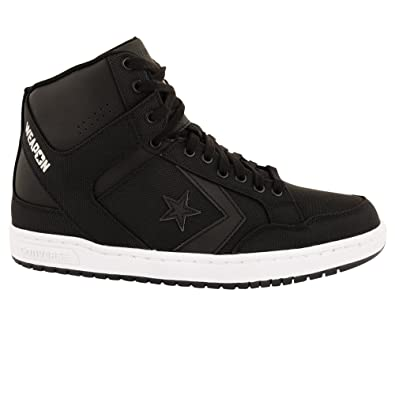 858924715b28 CONVERSE CHUCK TAYLOR ALL STARS SUEDE TRAINERS HI TOP 147471C WEAPON MID  BLACK. SIZE UK 8.5  Amazon.co.uk  Shoes   Bags