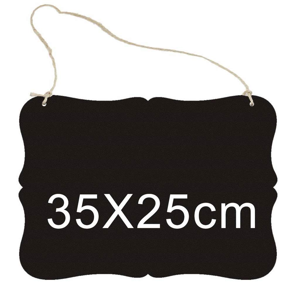 DERTHWER Decorative Bulletin Boards Wooden Crafts Mini Blackboard Listing Children's Blackboard Double-Sided DIY Home Decorations Practical Multifunctional Blackboard (Color : C, Size : 35x25x0.5cm) by DERTHWER