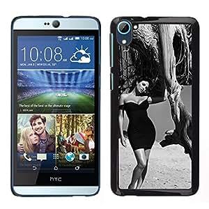 LECELL--Funda protectora / Cubierta / Piel For HTC Desire D826 -- B & W Elegante Morena --