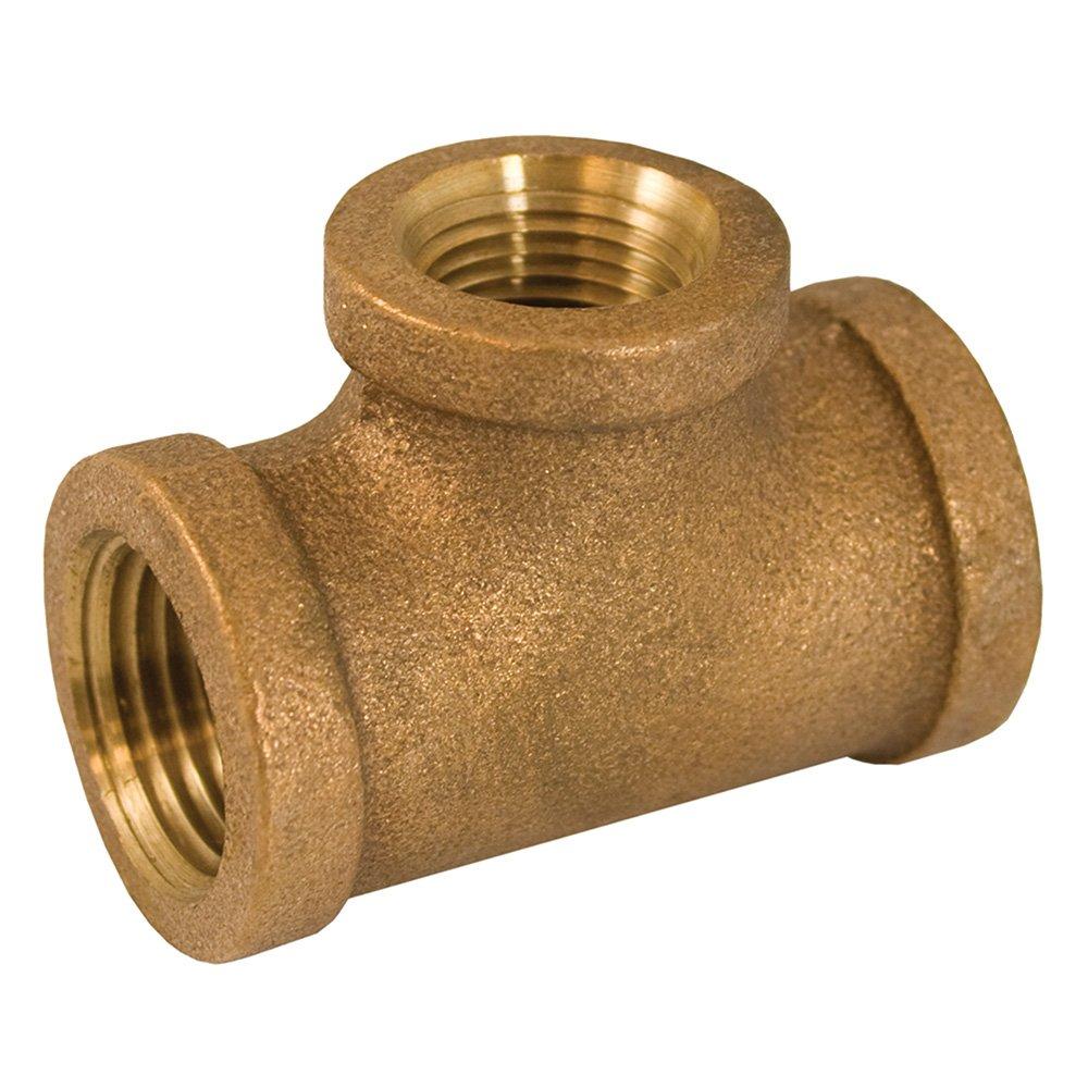 Jones Stephens Corp - 1-1/4 X 3/4 Bronze Red. Tee Lead Free
