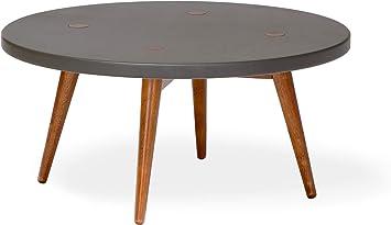 Amazon Com Memomad Mid Century Modern Round Nesting Table Coffee