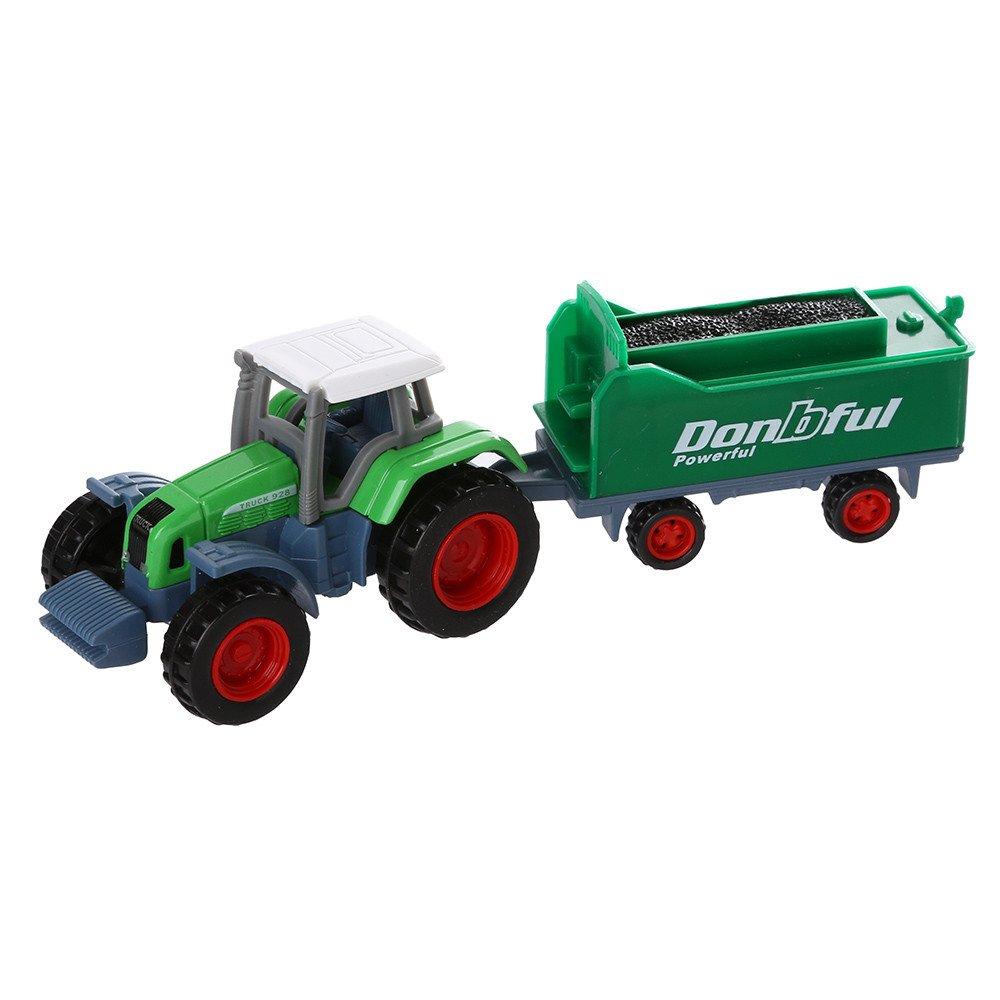 mxjeeio Bauernhof-Serien-Transportanhä nger Spielzeug Frontlader und Tandemachs-Transportanhä nger