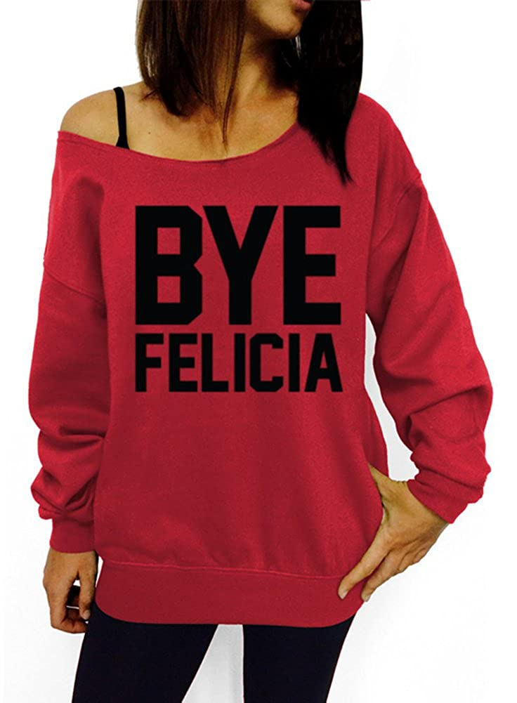 380165e01 Dentz Design Bye Felicia Slouchy Sweatshirt at Amazon Women's Clothing  store: