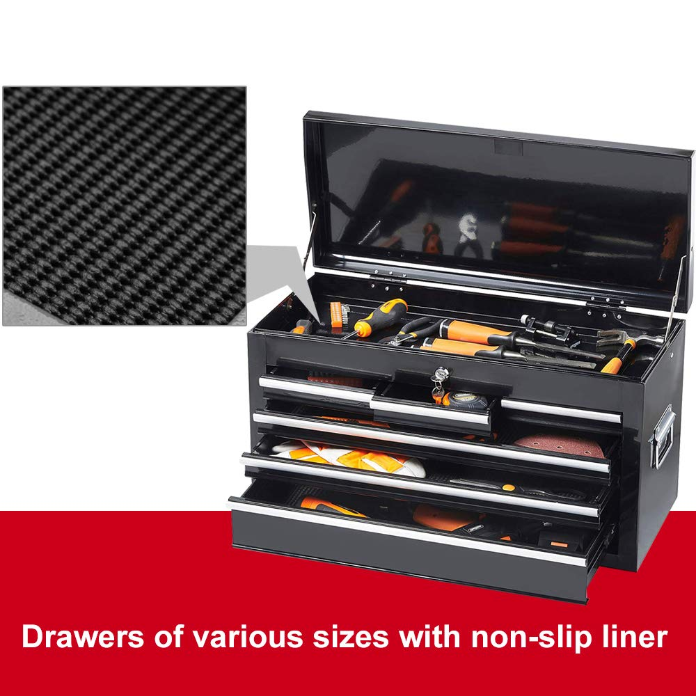 High Capacity 8-Drawer Rolling Tool Chest with Wheels and Drawers,Tool Storage Cabinet,Detachable Organizer Tool Box Combo,Mobile Lockable Toolbox for Workshop Mechanics Garage