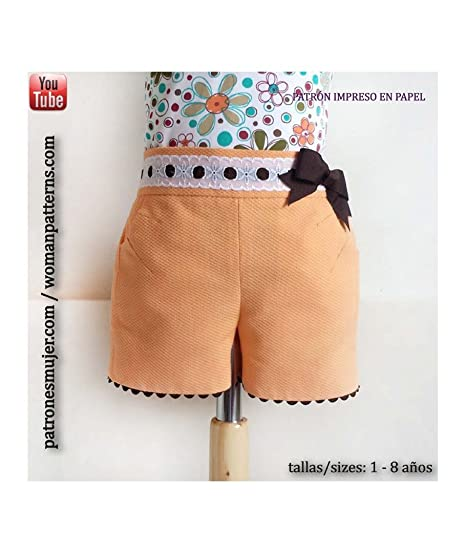 new styles aa511 88a97 Cartamodello per short ragazza con tasche con vídeo-tutorial ...