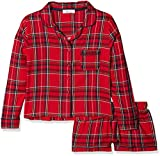 New Look 915 Girl's 5477167 Pyjama Sets, (Red Pattern), Medium (Size: 52)