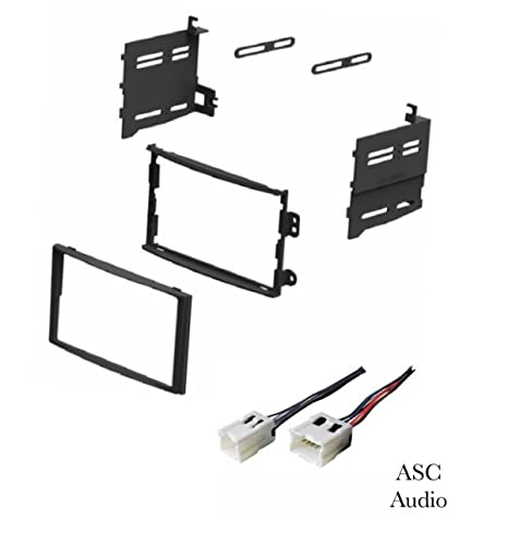 amazon com: asc car stereo dash install kit and wire harness for installing  a double din aftermarket radio for 2003 2004 2005 nissan 350z: car  electronics
