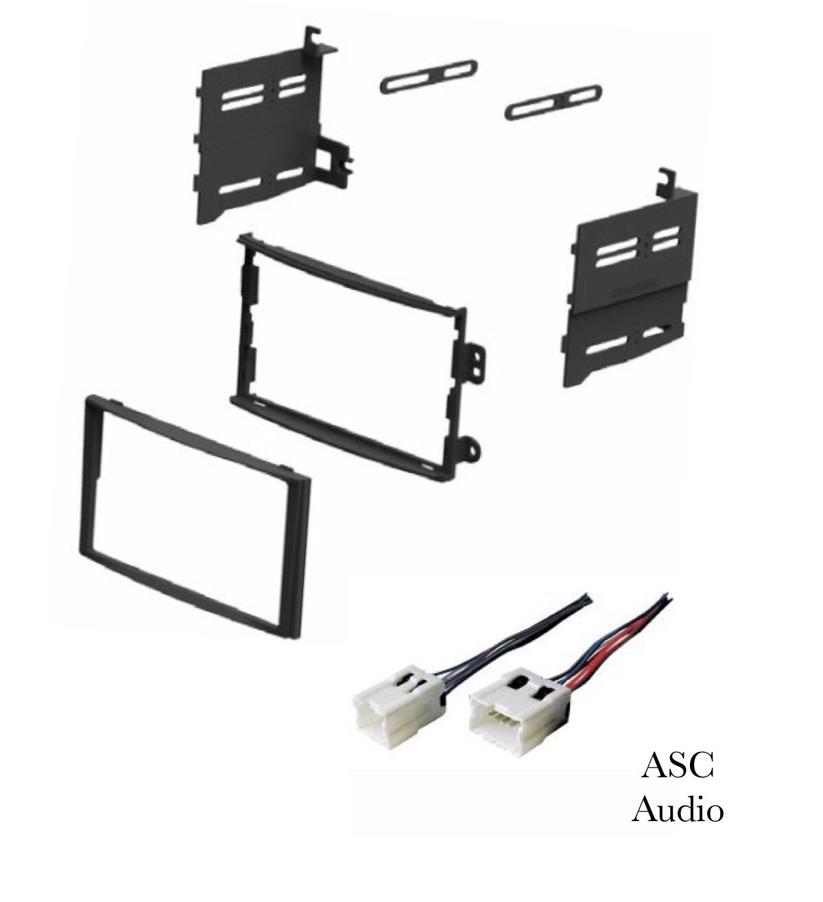 ASC Car Stereo Dash Install Kit and Wire Harness for Installing a Double Din Aftermarket Radio for 2003 2004 2005 Nissan 350z