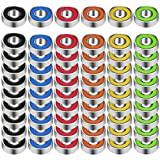 EAONE 60 Pieces 608 Hybrid Ball Bearings for Tri-spinner Fidget Spinner Toy, Double Shielded