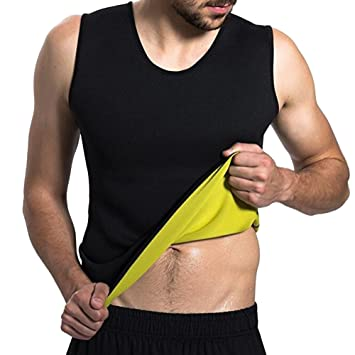 6304b3f9c3b5b Men s Body Shaper Waist Trainer Vest Shirt Hot Sweat Workout Tank Weight  Loss Shapewear Slimming Undershirt