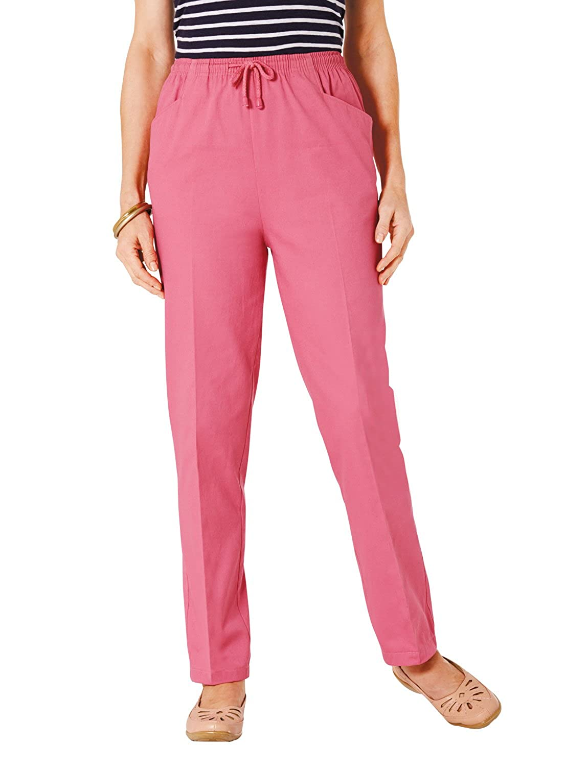 Ladies Womens Quality Cotton Trousers With Drawcord Chums