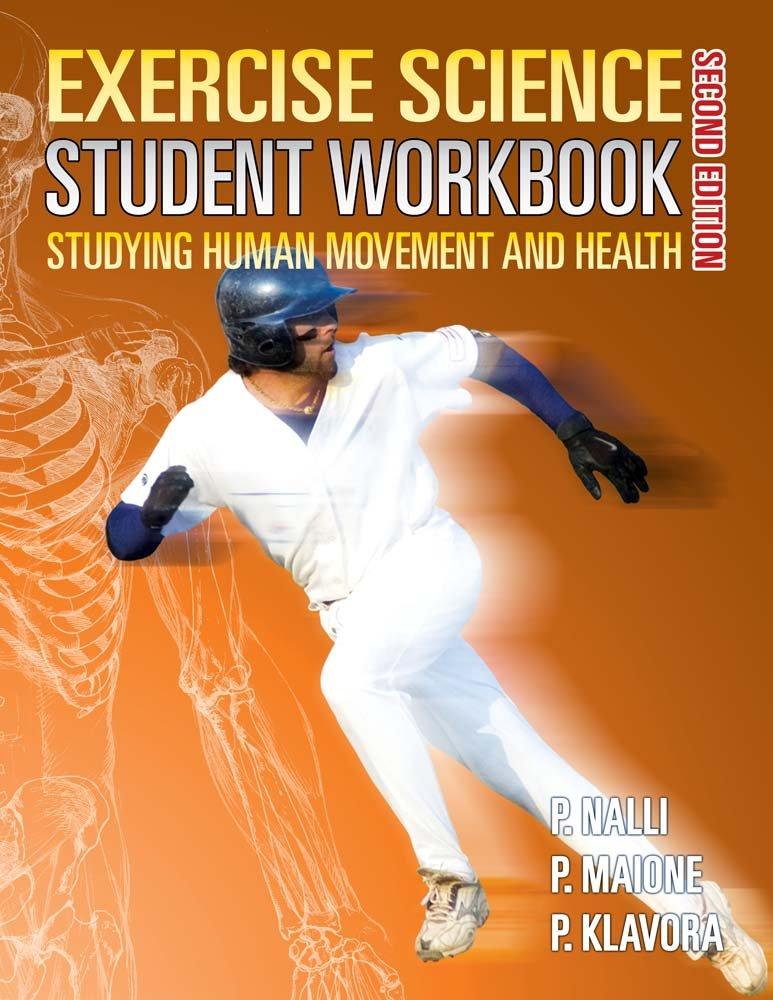 Exercise Science Student Workbook (2nd edition) pdf epub