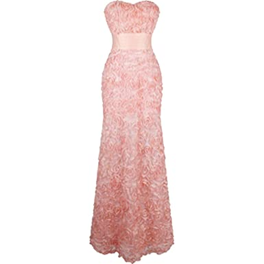 Off Shoulder Chiffon Flowers Ruched Evening Dresses Pink Vestido DE Novia 343,343 Pink,16,