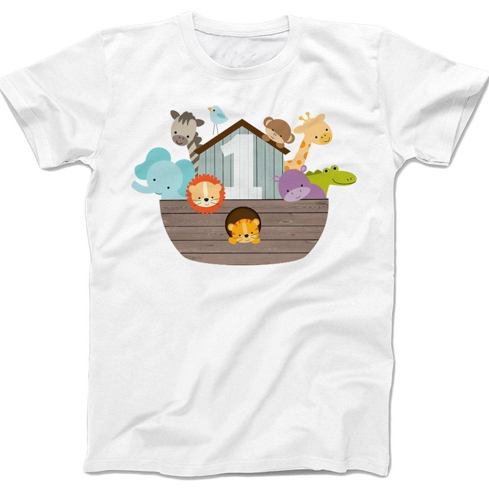 Primer cumpleaños - Arca de Noé Tema - Camiseta de Color ...
