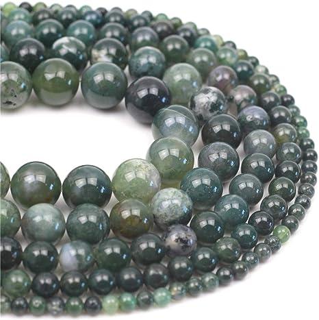 "Natural Gemstone White Howlite Turquoise Round Beads For Jewellery Making 15/"" UK"