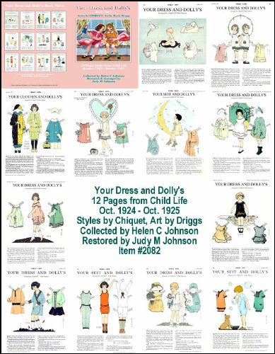 Your Dress and Dolly's, Book 3; 1920s Restored Paper Doll Collection