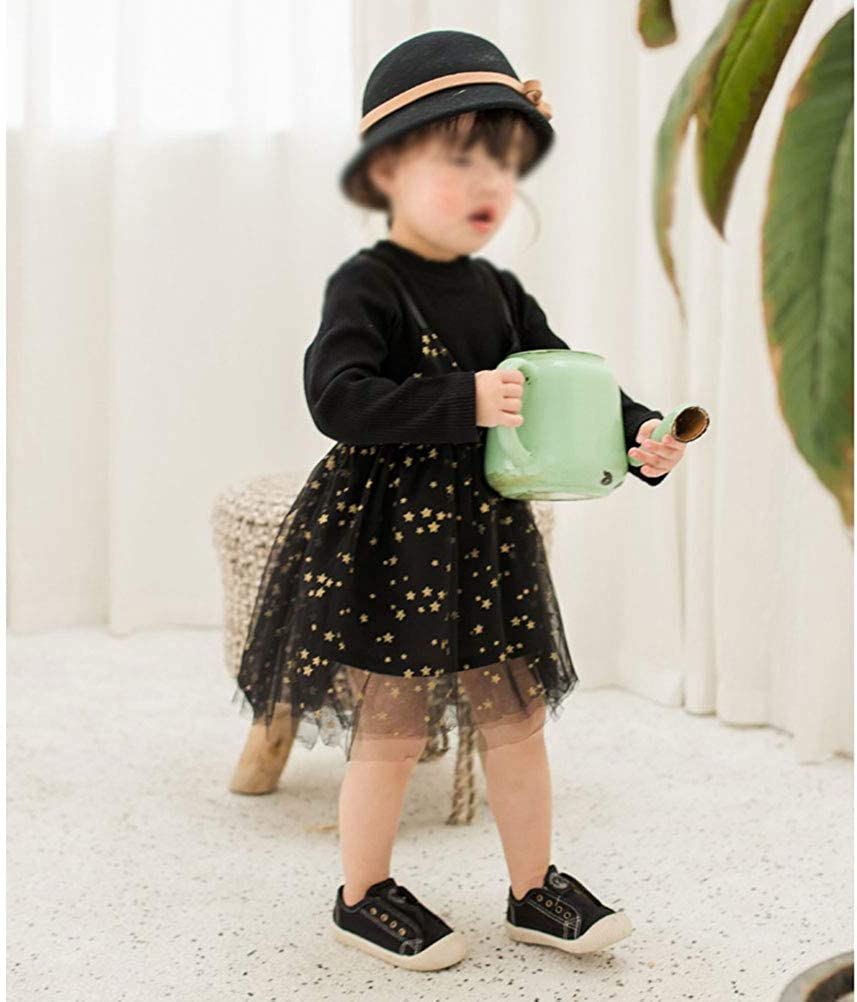YUN HAO Baby Toddle Girls Tutu Dress Lace Pentastar Long Sleeve Skirt