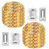 Fairy Lights 8 Modes String Lights Battery Operated Twinkling 50 LEDs Fairy String Lights 16.4FT Copper Wire Firefly Lights Remote Control for Bedroom Wedding Festival Decor