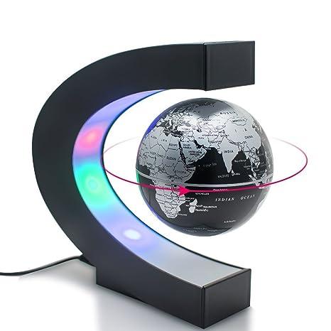 globo c levitazione magnetica  Genmine 3 Pollici Globo di Levitazione Magnetica Rotante Fluttuante ...