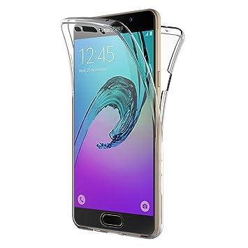 AICEK Funda Samsung Galaxy A3 2016, Transparente Silicona 360°Full Body Fundas para Samsung A3 2016 Carcasa Silicona Funda Case (SM-A310F 4.7