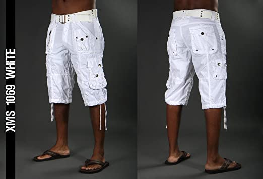 X-ray Men's Cargo Capri Shorts - Color White Xms-1069 (38 ...