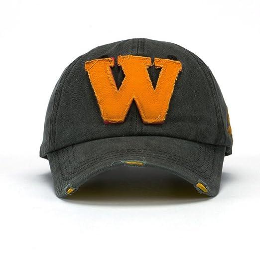 d7788eb450f Amazon.com  BCDshop Snapback Hats Unisex Outddor Letter W Hockey Baseball  Caps Vintage Hats (Black)  Clothing