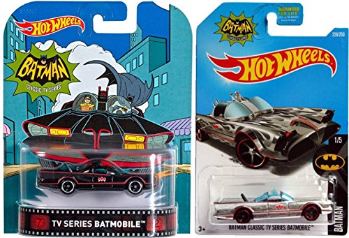 Harley Quinn Batman The Animated Series Costume (Hot Wheels Batman Classic TV Series Batmobile Exclusive Zamac Edition & Batman TV Series Classic Black Retro Rubber Wheels Die-Cast Set)