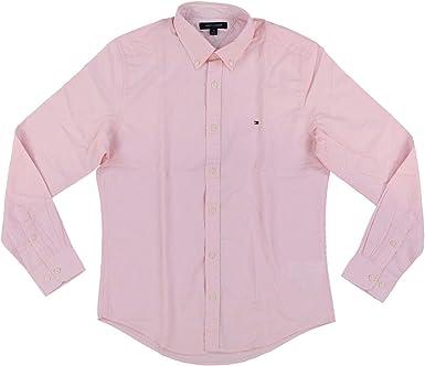 Tommy Hilfiger Camisa de manga larga con botones para hombre - Rosa - XX-Large: Amazon.es: Ropa y accesorios