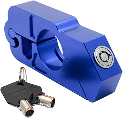 Universal Handlebar Grip Brake Security Lock Anti Theft For Motorcycle 6 Colors