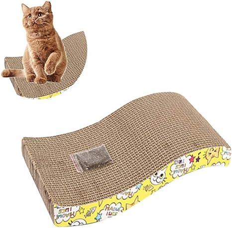 KOBWA rascador de Gatos de Cartón para Gato rascador Tabla ...