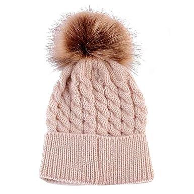 90d03fed6f86 BZLine® Bébé Fille Garçon Chapeau d automne-Hiver   Bonnet Chauffant en  Laine
