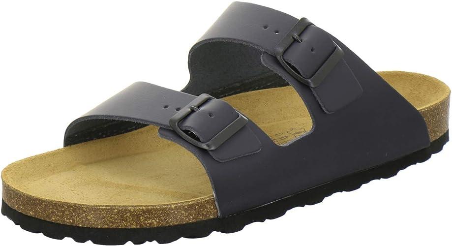 AFS Schuhe 3100 Bequeme Pantoletten für Herren Leder, Hausschuhe Arbeitsschuhe, Made in Germany