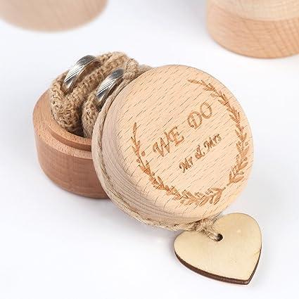 Amazon Com Partytalk Wooden Wedding Ring Box Rustic Wedding Ring