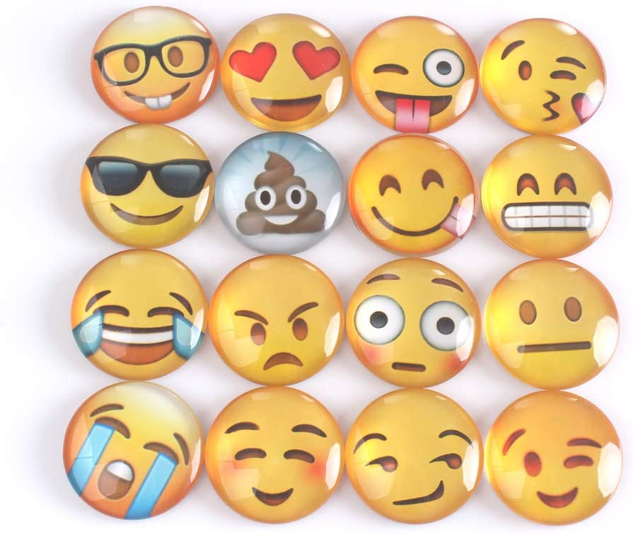 WARMBUY Emoji Refrigerator Magnets Set of 16